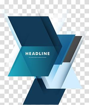 fond bleu, géométrie, illustration, logo, titre png