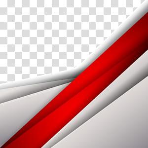 Géométrie courbe forme géométrique, matériel de fond de texture géométrique fashion, illustration numérique rouge et gris png