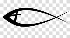 poisson noir, Ichthys christianisme Bible croix chrétienne symbole, canne à pêche png