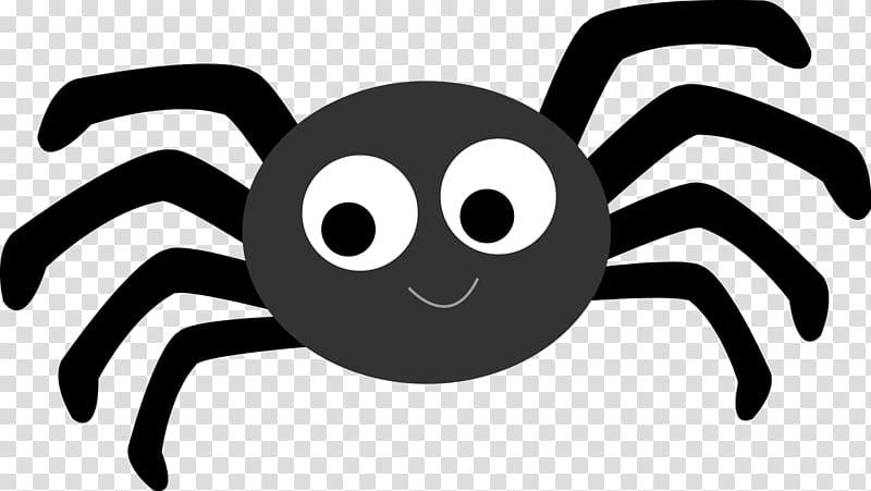 illustration ronde en noir et blanc, Spider Cartoon Animation, Cute Cartoon Spiders png