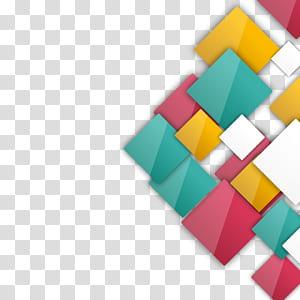 Euclidien, boîte de cristal, carré multicolore png