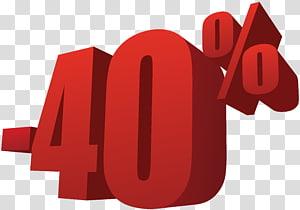 -40% text, Sales, 40% sur la vente png