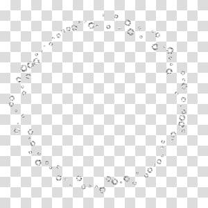bordure ronde transparente en pierres précieuses, dessin animé, bulles de savon png