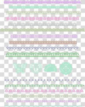 échantillons de garniture en dentelle de couleurs assorties, texture de bordure en dentelle simple pourpre png
