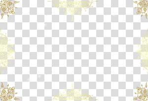 Bordure créative de déformation florale dorée, modèle floral brun png