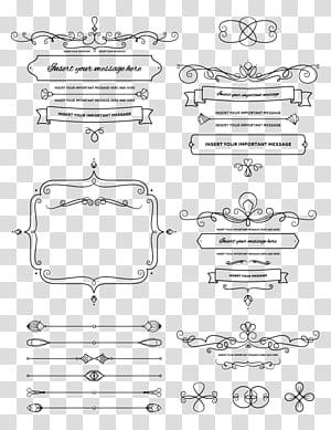 Logo de mariage, bordure à motif png