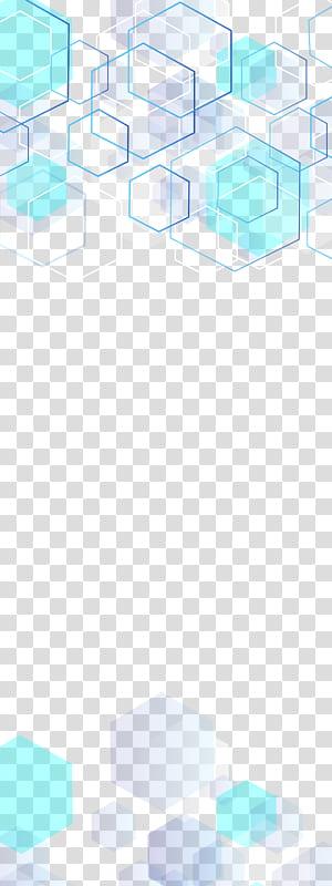 bleu et blanc, fond multicouche technologie hexagones bleus, bleu et blanc png