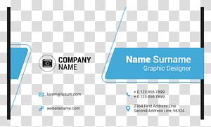 illustration d'informations sur le nom de l'entreprise, conception de cartes de visite, cartes de visite personnalisées png