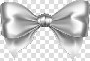 illustration d'arc blanc, ruban d'argent stable d'étoile, arc d'argent png