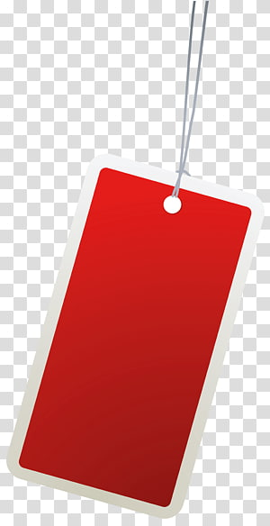 carton rouge, papier d'étiquette, étiquette rouge png
