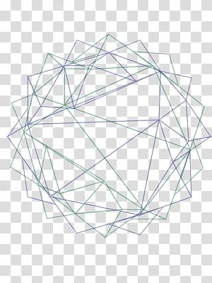 Polygone Line Geometry Euclidean, illustration de fond de géométrie abstraite, chaînes vertes et bleues png