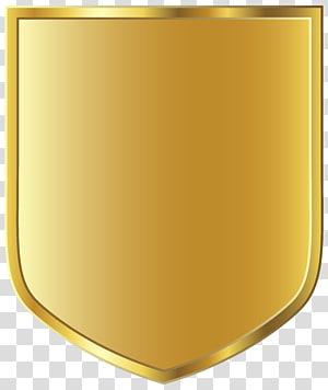 Graphiques de papier, modèle de badge doré, illustration du bouclier doré png