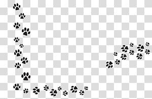 illustration d'empreinte animale noir, chien Pet Dog Cat Paw, griffe de chien png
