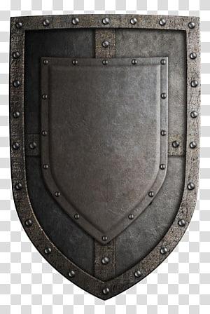 illustration du bouclier gris, arme de l'épée du bouclier des croisades du Moyen Âge, bouclier rétro png