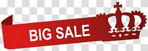 Fond rouge avec superposition de texte Big Sale, Port Moresby, vallée de Ensisi Ventes Delta Natural Gas Company, Inc., Étiquette de grande vente avec couronne png