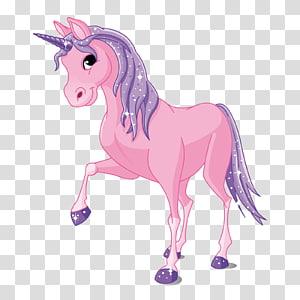 illustration de la Licorne rose, Invisible Licorne Rose, fond de Licorne png