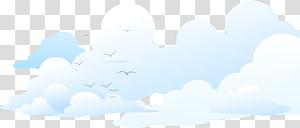 ciel, marque ciel nuage bleu, fond de nuages de mouette png