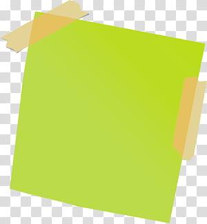 Post-it note Papier adhésif, pense-bête, pense-bête vert png