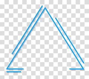 Triangle géométrique abstrait, illustration de triangle bleu png