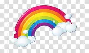 Irisation nuage arc-en-ciel, nuages arc-en-ciel, arc en ciel png