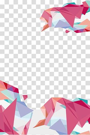 Géométrie, fond géométrique, art multicolore png