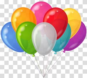 Balloon Party, bouquet de ballons colorés, ballons de couleurs assorties png