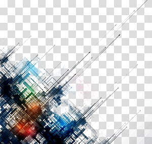 Lignes abstraites simples lignes de fond, peinture abstraite noire, verte et bleue png