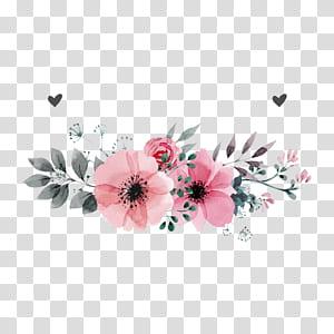 Invitation de mariage fleur, fleurs roses, illustration de fleur pétale rose sur fond blanc png