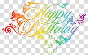 Carte de voeux d'anniversaire, joyeux anniversaire coloré, oeuvre de joyeux anniversaire png