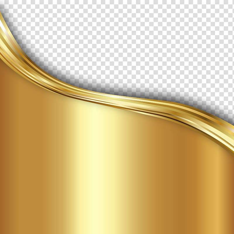 Matériel de lignes ondulées texture fond or, or png