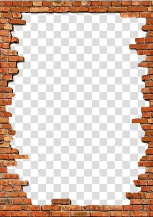 Mur de cadres de briques, cadre de briques, illustration du cadre de briques png