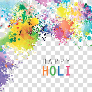 India Holi Illustration, motif splash aquarelle, peinture abstraite multicolore png