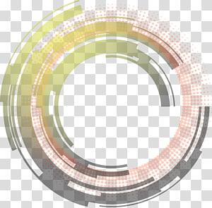 Science et technologie Illustration d'un cadre graphique abstrait cercle, gris et rouge png