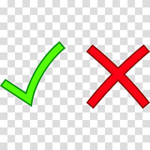 check et illustration X, coche Croix X marque icônes d'ordinateur, coche libre png