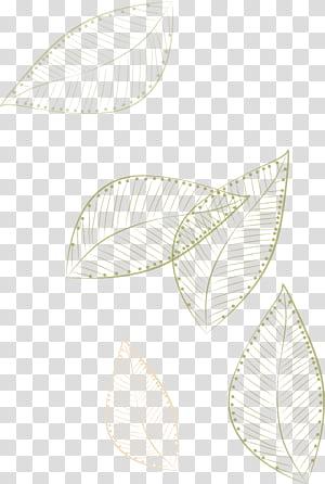 Papier blanc motif ,, feuilles peintes flottant, feuilles d'or illustration sur fond bleu png