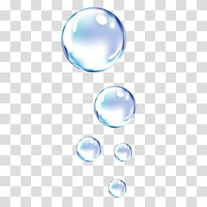 bulles de bulles dynamiques gouttelettes d'eau, bulles claires png