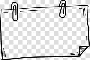 Fichier informatique, bordure de lignes dessinées à la main png