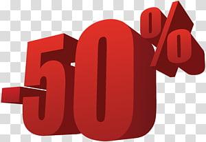 -50% signe, 50% sur la vente png