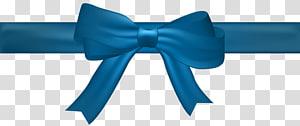 Blue, Bow Blue, frontière de ruban bleu png