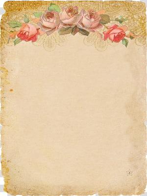 Textile floral brun, invitation de mariage de papier lettre papeterie, roses décorent la papeterie vintage png