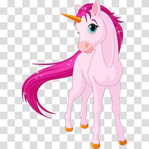 licorne rose, Licorne, unicornio png
