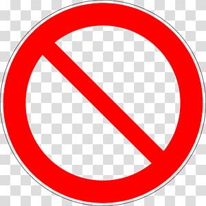 signalisation rouge, pas de symbole, interdit png