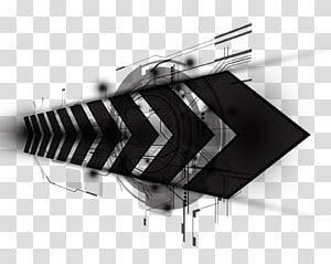 Technologie de bannière Web, fond de bannière de technologie, décor de flèche noire png