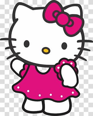 Illustration de Hello Kitty, impression de toile de caractère Hello Kitty, Bonjour kitty png
