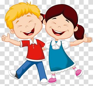 Cartoon Child Illustration, enfant, souriant, illustration de garçon et fille png