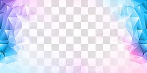 Gratis, Polygon Color, illustration de cristal bleu et violet png