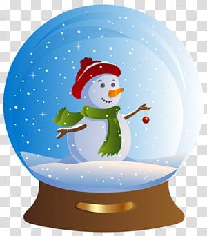 Santa Claus Snow Globes graphiques jour de Noël, le père Noël png