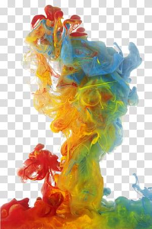 Fumée colorée, fumée de couleur, fumée de couleur rouge, jaune, verte et bleue png