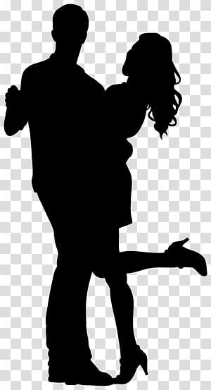 Silhouette, Silhouette de danseurs de couple png