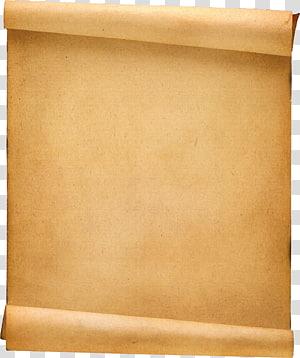 rouleau de papier brun, parchemin de modèle de rouleau de papier, vieux fond png